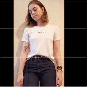 White T-shirt with embroidery